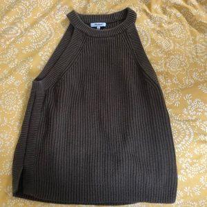 Madewell Halter Neck Sweater Tank